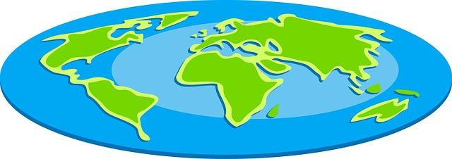 Image of flat globe